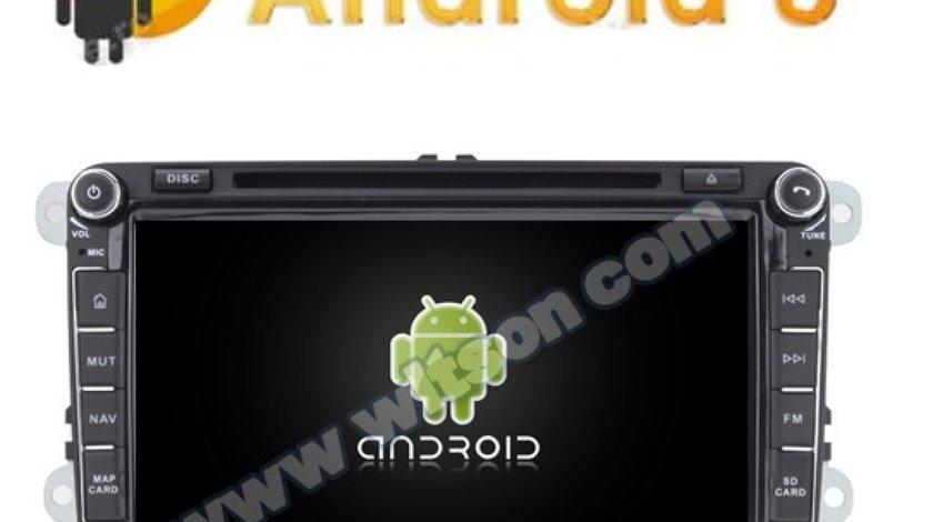 NAVIGATIE ANDROID 8.0 DEDICATA VW SKODA SEAT WITSON W2-V7617 8'' 4G RAM WIFI OCTACORE 32GB GPS WAZE