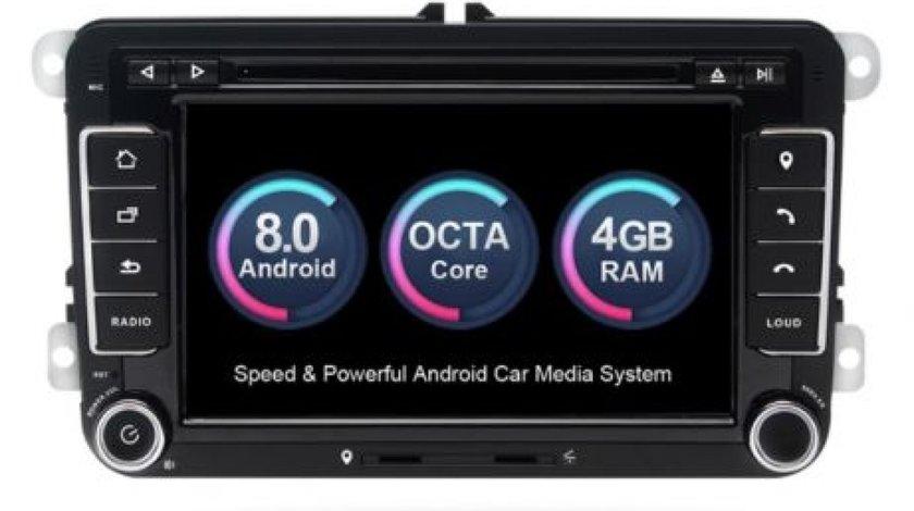 NAVIGATIE ANDROID 8.0 DEDICATA VW SKODA SEAT XTRONS PB78MTVP 7'' INTERNET 4G OCTACORE 4GB RAM 32 GB