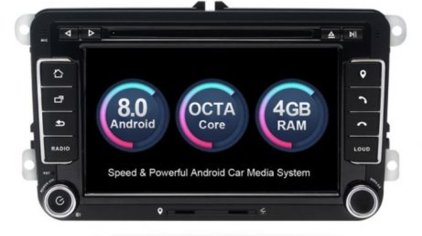 NAVIGATIE ANDROID 8.0 DEDICATA VW Touran XTRONS PB78MTVP 7'' INTERNET 4G OCTACORE 4GB RAM 32 GB