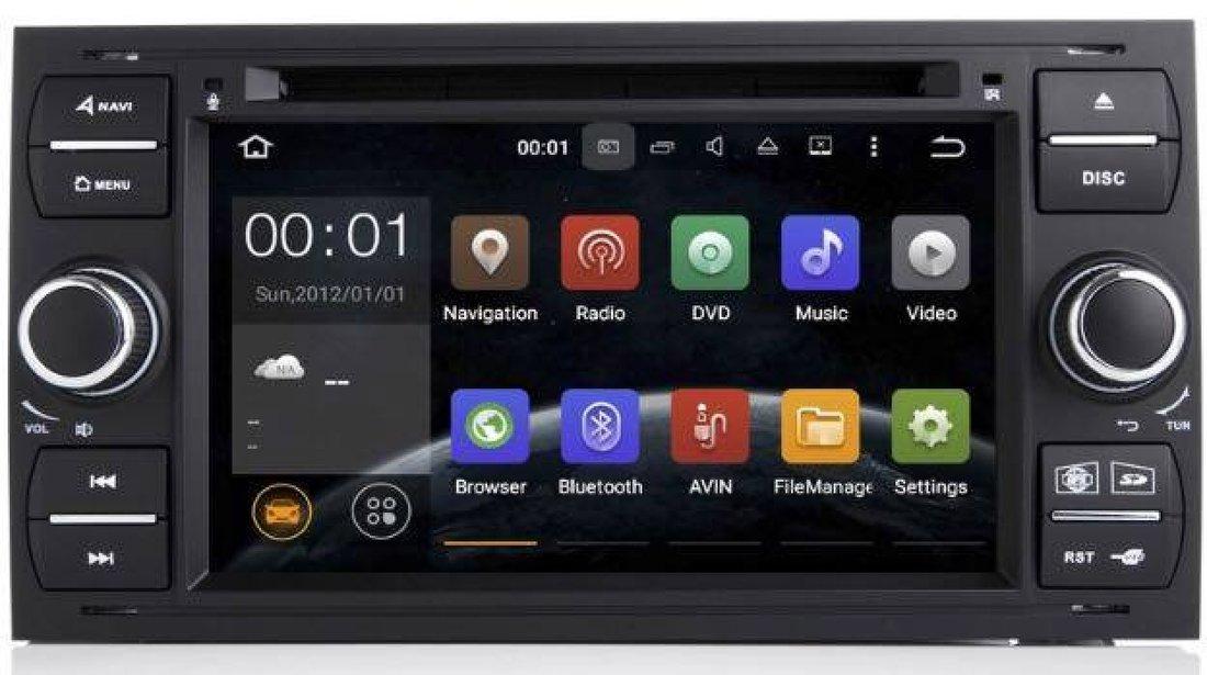 NAVIGATIE ANDROID 8.1 DEDICATA FORD C MAX ECRAN IPS 16GB DVD CARKIT USB SD GPS WAZE NAV-D9488B