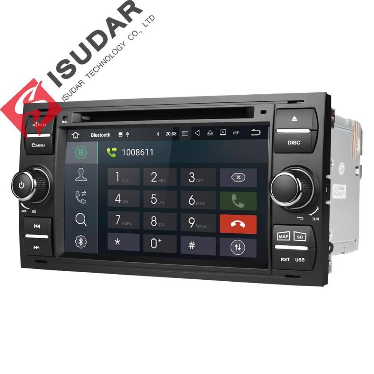 NAVIGATIE ANDROID 8.1 DEDICATA FORD FIESTA MK6 ECRAN IPS DVD CARKIT USB SD GPS WAZE EDOTEC EDT-G140
