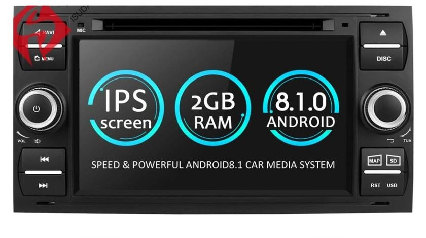 NAVIGATIE ANDROID 8.1 DEDICATA FORD S-MAX ECRAN IPS DVD CARKIT USB SD GPS WAZE EDOTEC EDT-G140