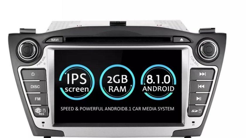 NAVIGATIE ANDROID 8.1 DEDICATA HYUNDAI IX35 ECRAN IPS 7'' 16GB 2GB DVD CARKIT USB SD GPS WAZE