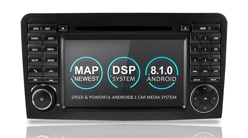 NAVIGATIE ANDROID 8.1 DEDICATA MERCEDES-BENZ ML W164 GL X164 WITSON W2-K5558 ECRAN IPS GPS WAZE DVR