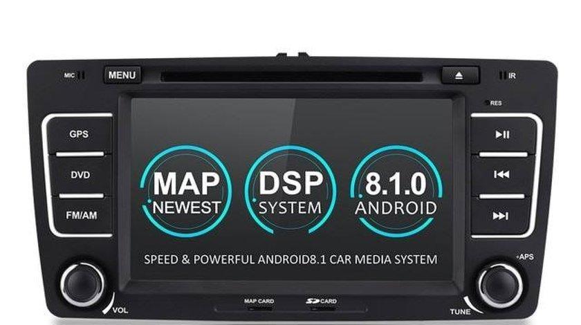 NAVIGATIE ANDROID 8.1 DEDICATA SKODA OCTAVIA 2 WITSON W2-K6201 ECRAN IPS 8'' 16GB 2GB RAM INTERNET
