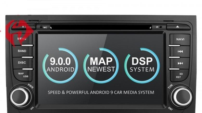 NAVIGATIE ANDROID 9.0 DEDICATA AUDI A4 B6 ECRAN IPS 7'' 16GB 2GB RAM INTERNET 3G WIFI GPS WAZE