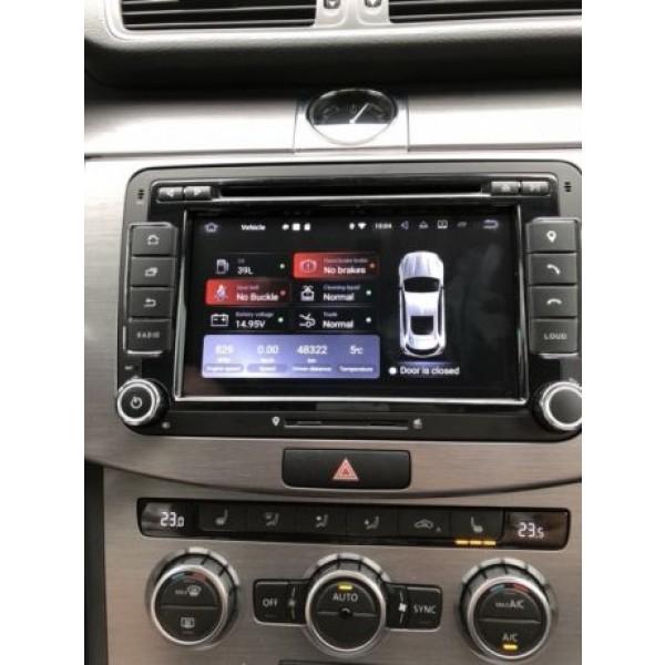 NAVIGATIE ANDROID 9.0 DEDICATA SKODA FABIA ECRAN IPS 7'' 16GB 2GB RAM INTERNET 3G WIFI QUAD-CORE GPS