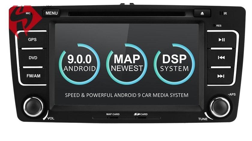 NAVIGATIE ANDROID 9.0 DEDICATA SKODA OCTAVIA 2 ECRAN IPS 8'' 16GB INTERNET 3G WIFI GPS WAZE DVR USB