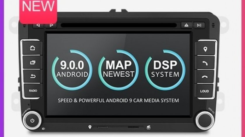 NAVIGATIE ANDROID 9.0 DEDICATA VW PASSAT B6 B7 ECRAN IPS 7'' 16GB 2GB RAM INTERNET 3G WIFI QUAD-CORE