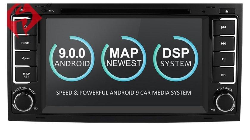 NAVIGATIE ANDROID 9.0 DEDICATA VW TOUAREG MULTIVAN TRANSPORTER T5 ECRAN IPS 16GB DVD GPS WAZE