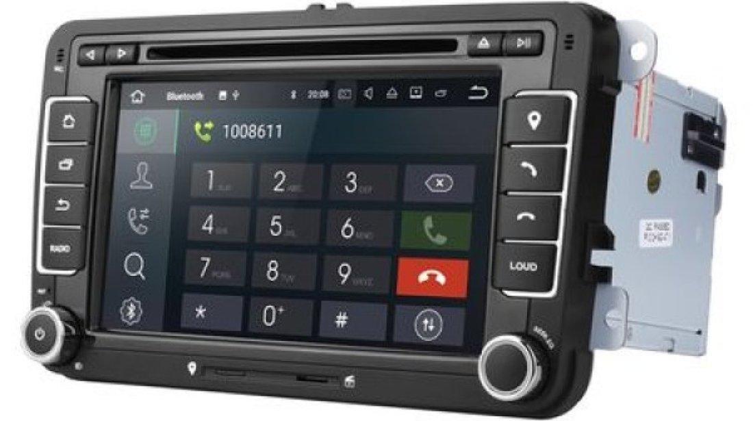 NAVIGATIE ANDROID 9.0 DEDICATA VW TOURAN ECRAN IPS 7'' 16GB 2GB RAM INTERNET 3G WIFI QUAD-CORE GPS