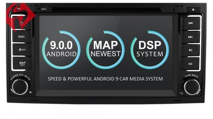 NAVIGATIE ANDROID 9.0 DEDICATA VW TRANSPORTER T5 ECRAN IPS 16GB 2GB RAM INTERNET 3G WIFI QUAD-CORE