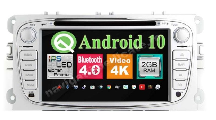 Navigatie Android 9.0 Ford Focus 2 Mondeo S-Max Tourneo Transit Internet Carkit Usb NAVD-MT9457