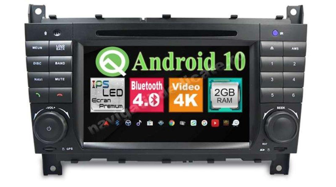 Navigatie Android 9.0 MERCEDES BENZ W203 C CLASS CARKIT NAVD-MT5517