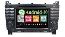 Navigatie Android 9.0 MERCEDES BENZ W203 C CLASS C...