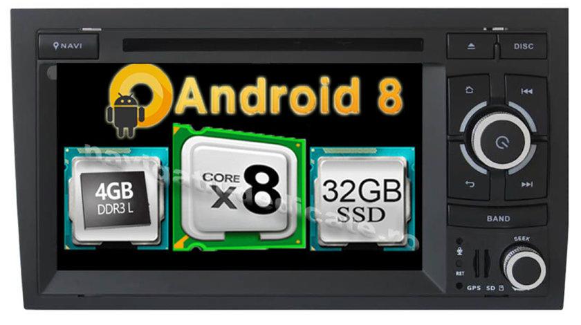 Navigatie Android Audi A4 B6 B7 Seat Exeo Octa Core 4GB RAM Ecran IPS Navd-P050