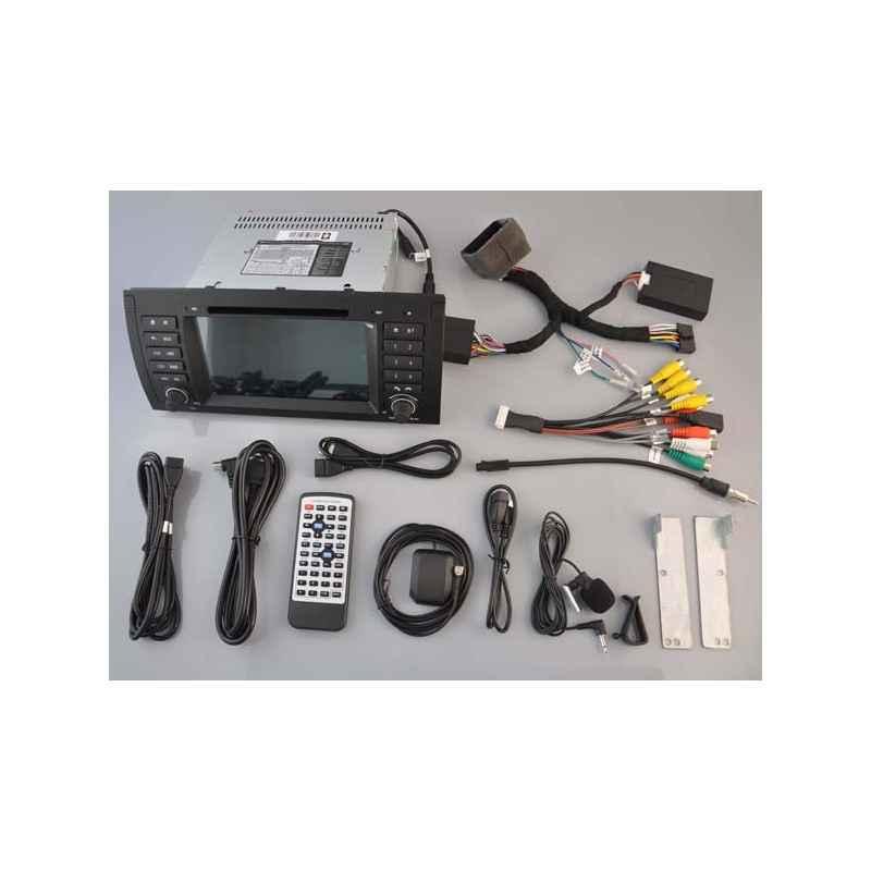 Navigatie Android BMW E39 X5 E53 E38 GPS DVD Carkit Bluetooth Internet 3G wifi WAZE NAVD A082