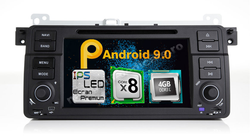 Navigatie Android Bmw E46 ROVER 75 4GB RAM Octa Core DVD GPS CARKIT Navd-P052