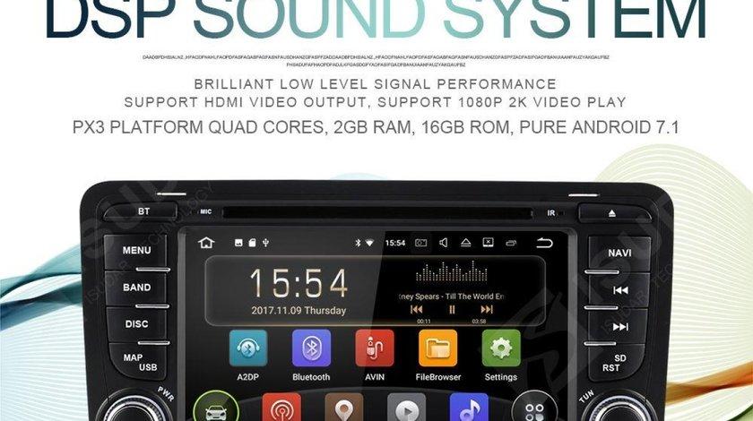 NAVIGATIE ANDROID DEDICATA AUDI A3 S3 RS3 7'' 16GB 2GB RAM WIFI DVR CARKIT BLUETOOTH MIRROR LINK GPS