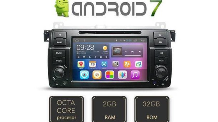 NAVIGATIE ANDROID DEDICATA BMW SERIA 3 E46 M3 EDT-G052 OCTACORE 2 GB RAM DDR3 32 GB MEMORIE