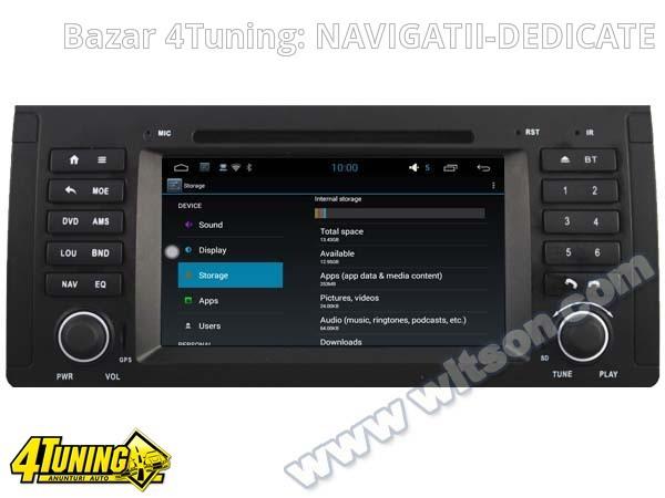 NAVIGATIE ANDROID DEDICATA BMW SERIA 5 - E39 WITSON W2-F9757B WAZE 3G WIFI 16GB