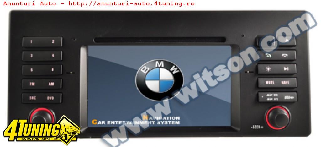 NAVIGATIE ANDROID DEDICATA BMW X5 E39 1995 2003 WITSON W2-M082 PLATFORMA S160 16GB WAZE MIRRORLINK
