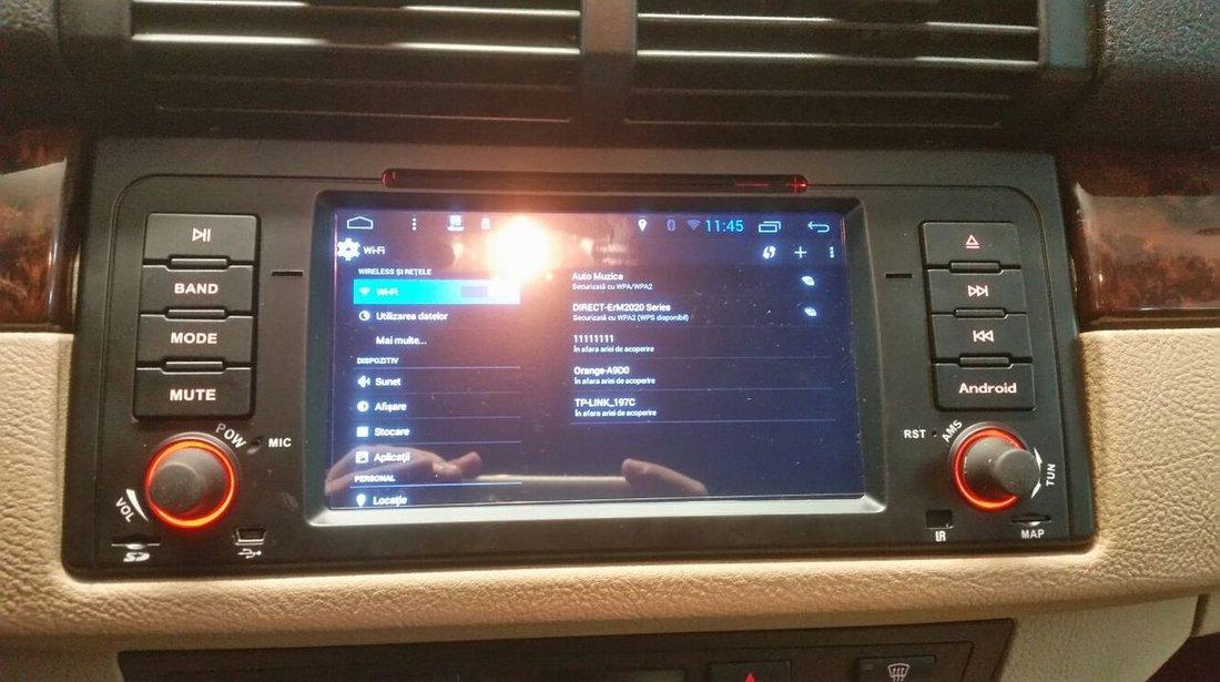 NAVIGATIE ANDROID DEDICATA BMW X5 E53 SERIA 5 E39 SERIA 7 E38 INTERNET 3G WAZE QUAD-CORE 1,6GHZ 16GB