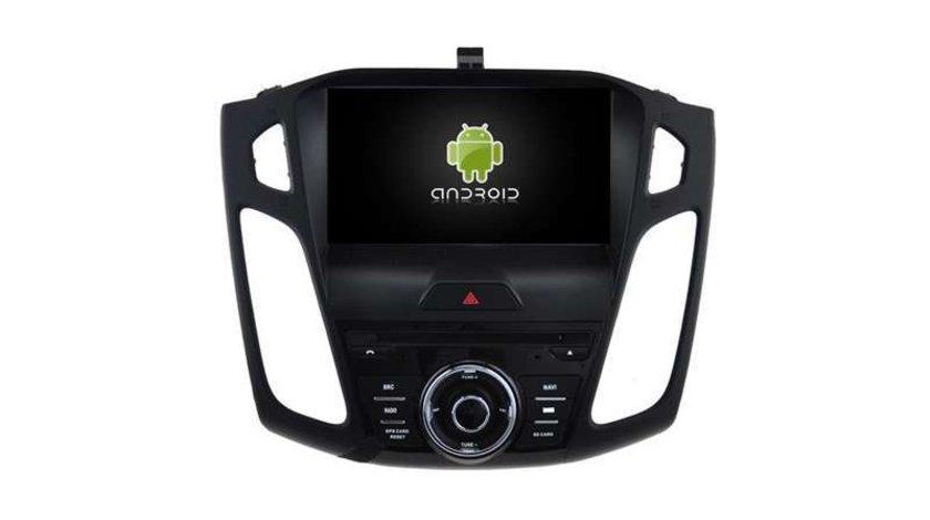 Navigatie Android Dedicata Ford Focus Mk3 2015-2018 DVD Auto GPS CARKIT INTERNET 4G WAZE NAVD-A8458