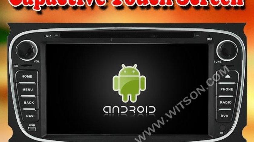 Navigatie Android Dedicata Ford Mondeo Focus 2 Rama Neagra W2-A9004