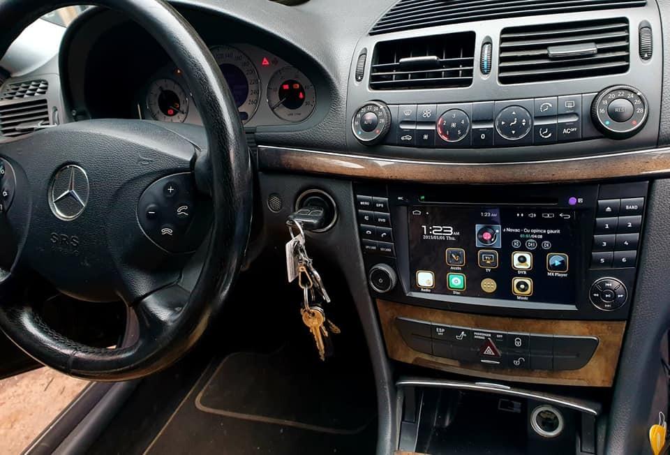 NAVIGATIE ANDROID DEDICATA MERCEDES-BENZ CLASA E W211 CLS W219 NAVD-A090 DVR CARKIT GPS INTERNET 3G