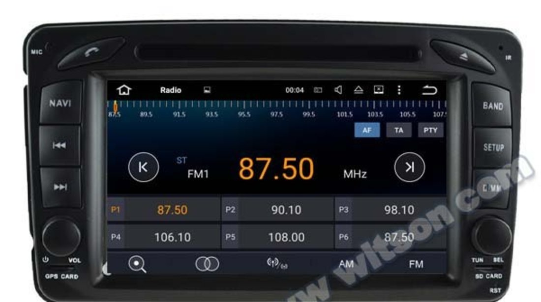 NAVIGATIE ANDROID DEDICATA MERCEDES CLK W209 WITSON W2-A6513 ECRAN CAPACITIV INTERNET 3G WIFI 16GB