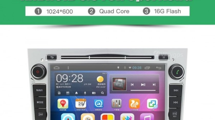 NAVIGATIE ANDROID DEDICATA OPEL ASTRA H Edotec EDT-G019 PROCESOR QUAD CORE 16 GB INTERNET 3G WIFI