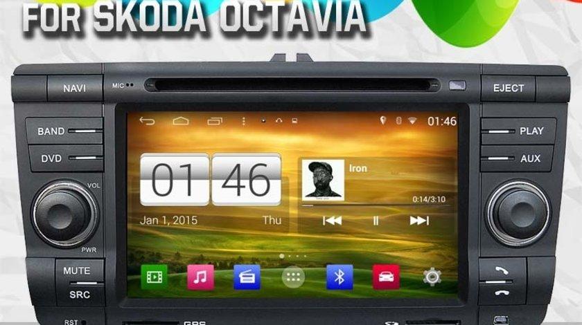 NAVIGATIE ANDROID DEDICATA SKODA OCTAVIA 2 WITSON W2-M005 PLATFORMA S160 QUADCORE 16 GB WAZE DVR GPS