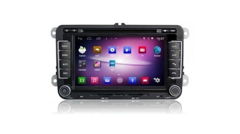 NAVIGATIE ANDROID DEDICATA VW JETTA EDOTEC EDT-M305 PLATFORMA S160 GPS 3G WIFI WAZE MIRRORLINK