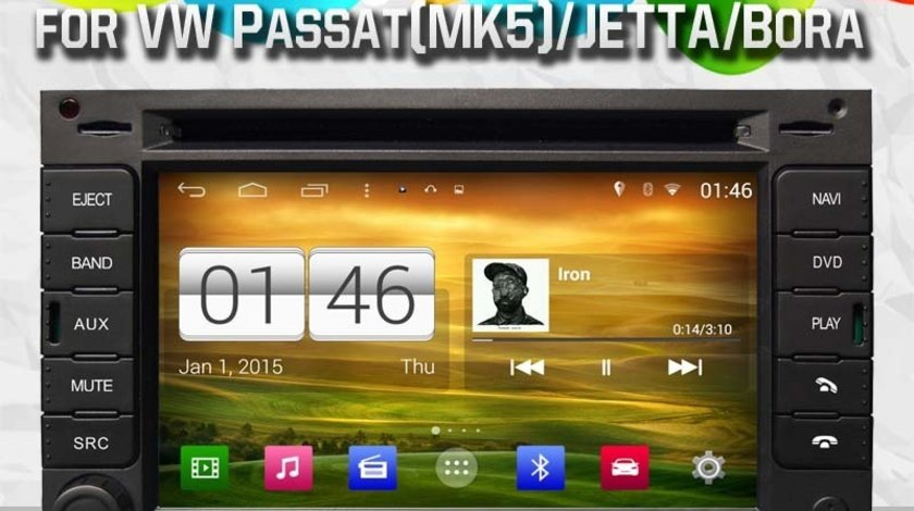 NAVIGATIE ANDROID DEDICATA VW PASSAT B5 GOLF 4 SKODA OCTAVIA SUPERB FABIA SEAT LEON WITSON W2-M016