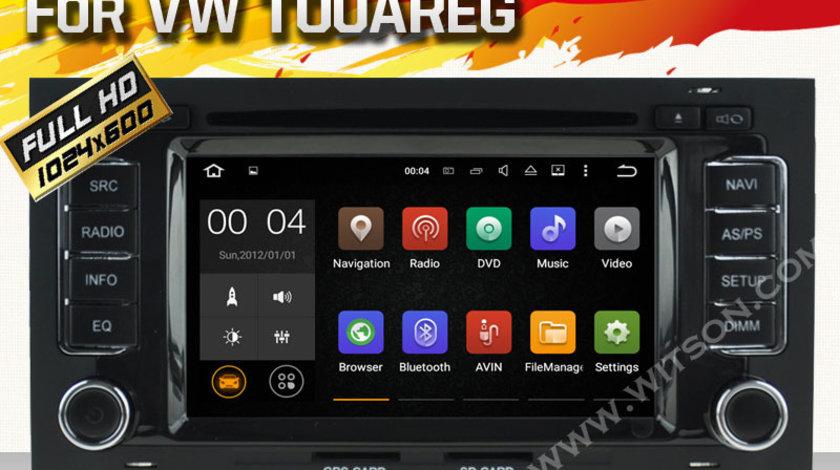 NAVIGATIE ANDROID DEDICATA VW TOUAREG MULTIVAN T5 TRANSPORTER DVD WITSON W2-A5769 INTERNET 3G WAZE