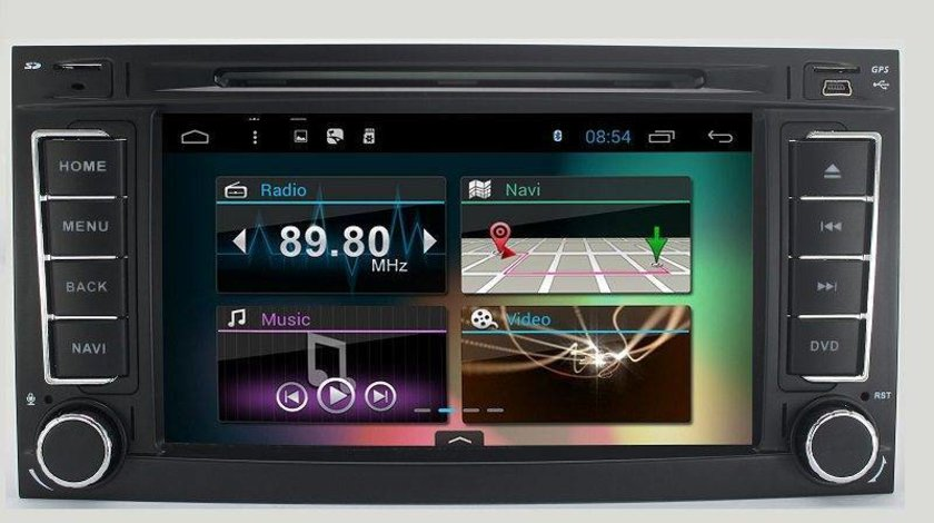 NAVIGATIE ANDROID DEDICATA VW TOUAREG MULTIVAN TRANSPORTER Edotec EDT-G042 QUAD CORE 16GB 3G WIFI