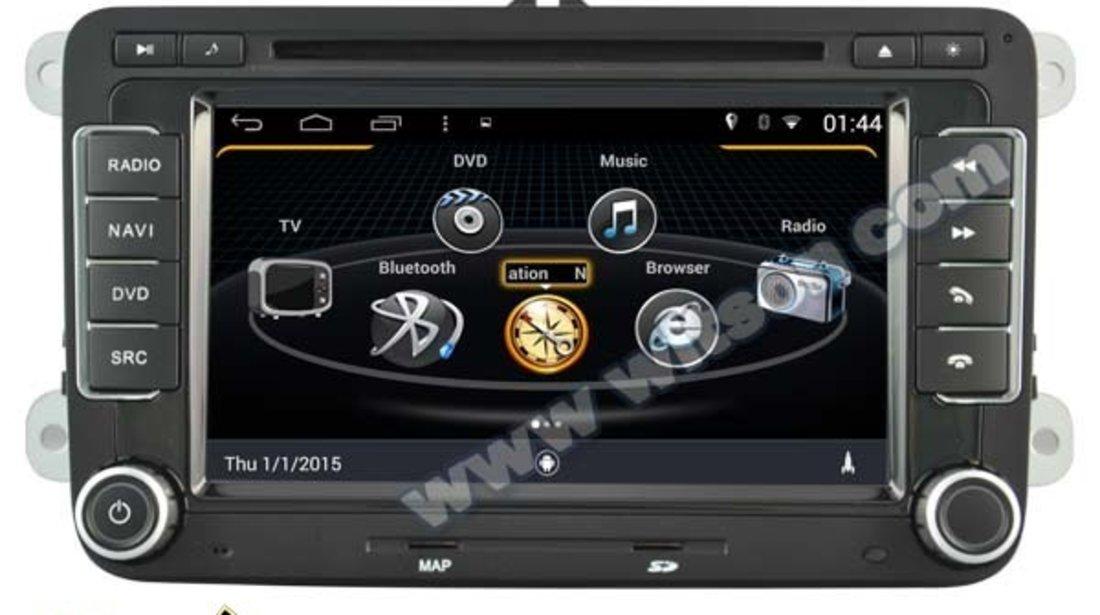NAVIGATIE ANDROID DEDICATA VW Touran 2003 WITSON W2-M305 PLATFORMA S160 QUADCORE 16GB 3G WIFI WAZE
