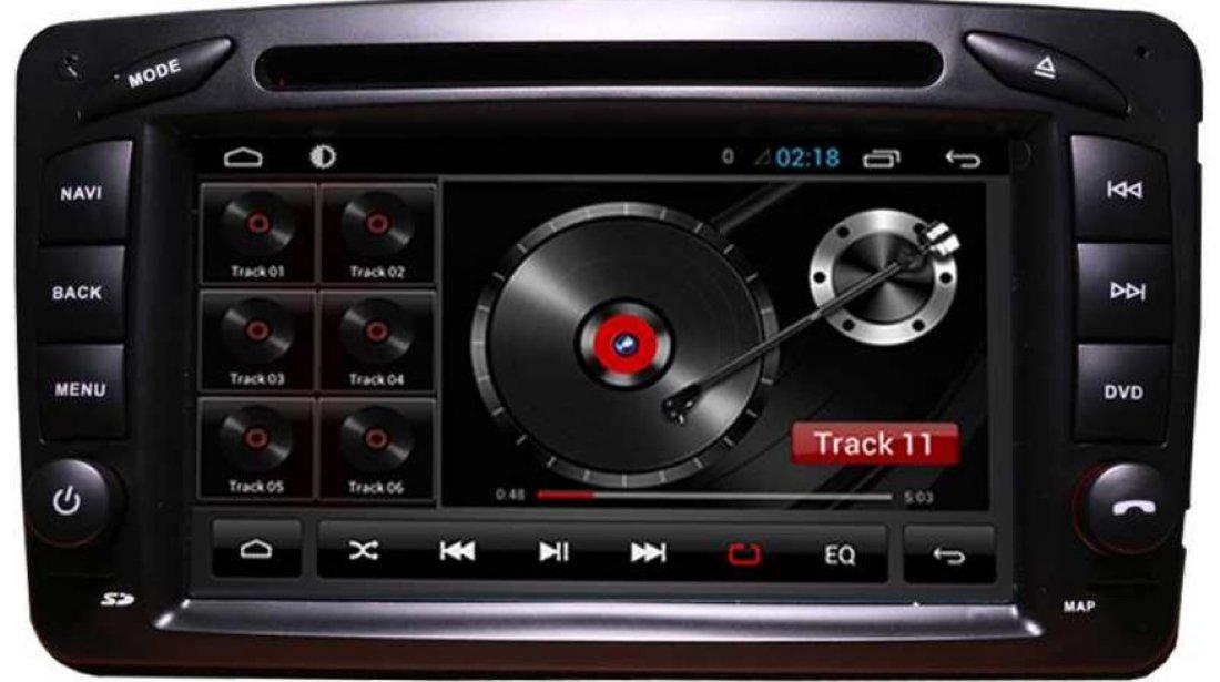 Navigatie Android Edt G171 Dedicata Mercedes Benz Clasa C W203 Clk Vito Viano W639 Internet Wifi Gps Carkit Usb Sd Mirror Link Model Premium