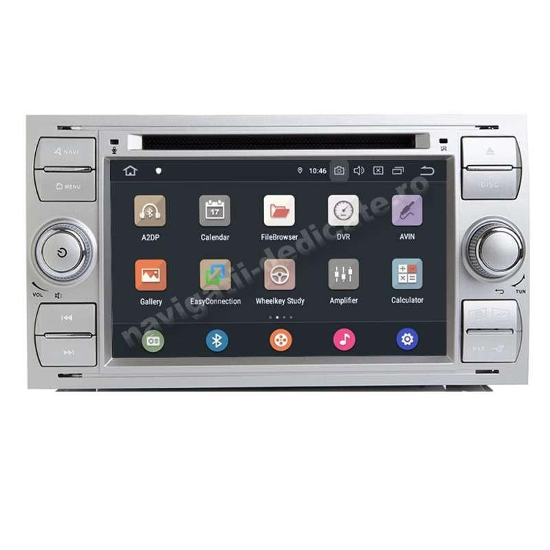 Navigatie Android Ford FOCUS 2 Kuga Fiesta Fusion Transit C-Max S-max OCTA CORE 4GB RAM NAVD-P9488