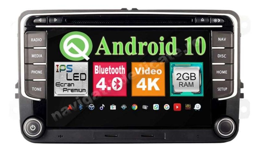 Navigatie Android Golf 5 6 Passat B6 B7 CC Jetta Tiguan Touran Eos Amarok Polo Sharan Navd-MT3700