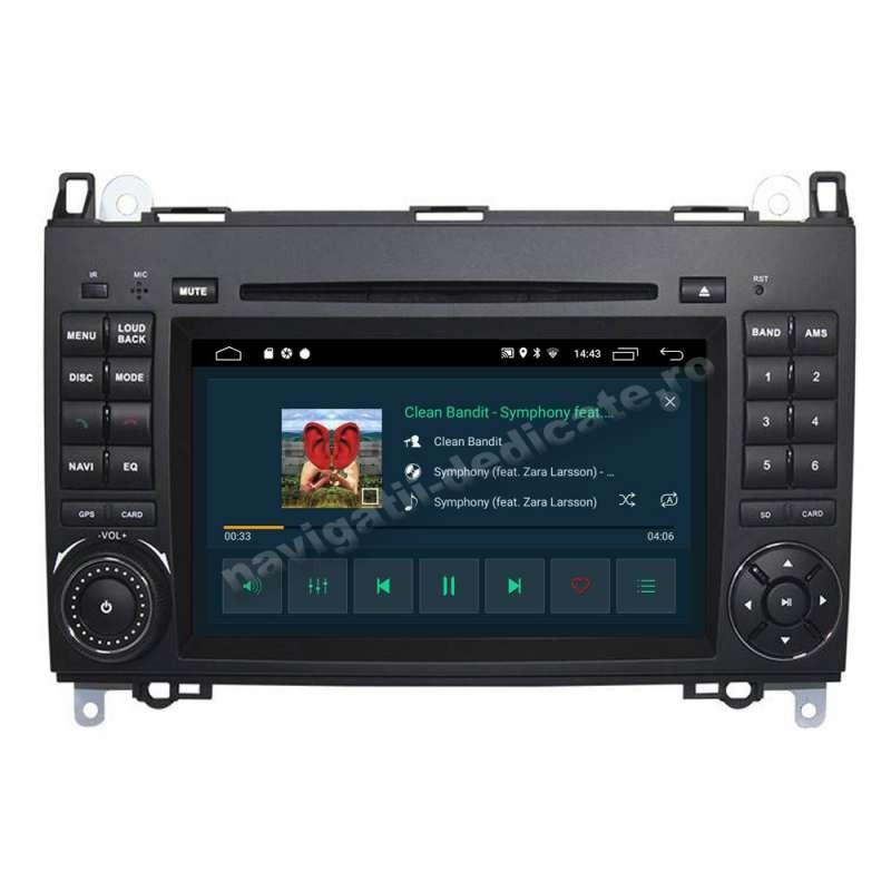 Navigatie Android Mercedes A B Class Vito Viano Sprinter Internet USB Waze NAVD-MT068