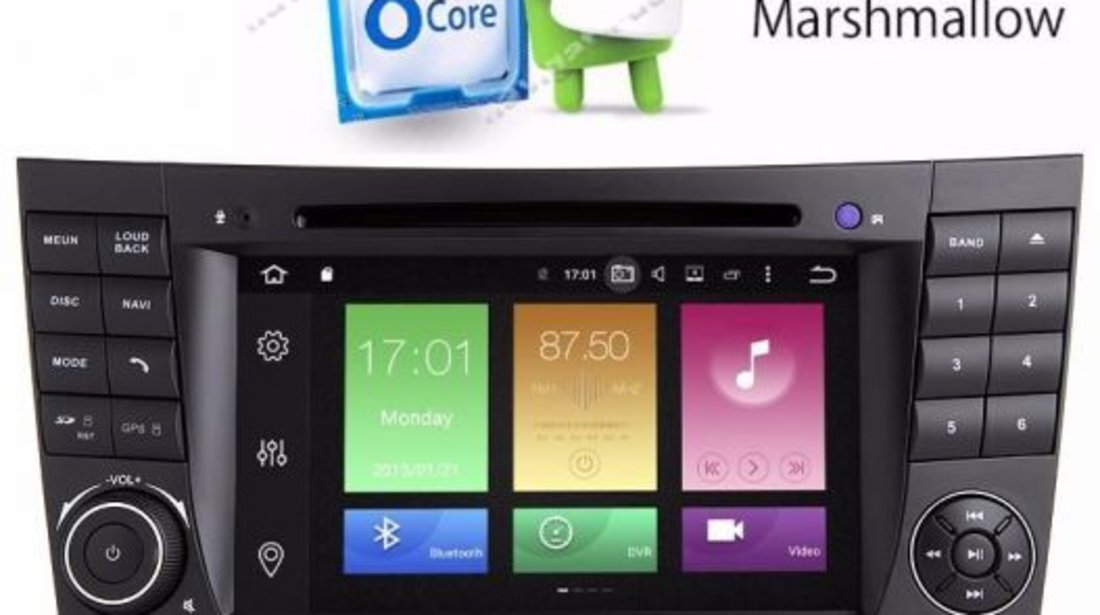 Navigatie Android Mercedes BENZ E CLASS / Clasa E W211 QUAD CORE INTERNET  MIRRORLINK NAVD-P090