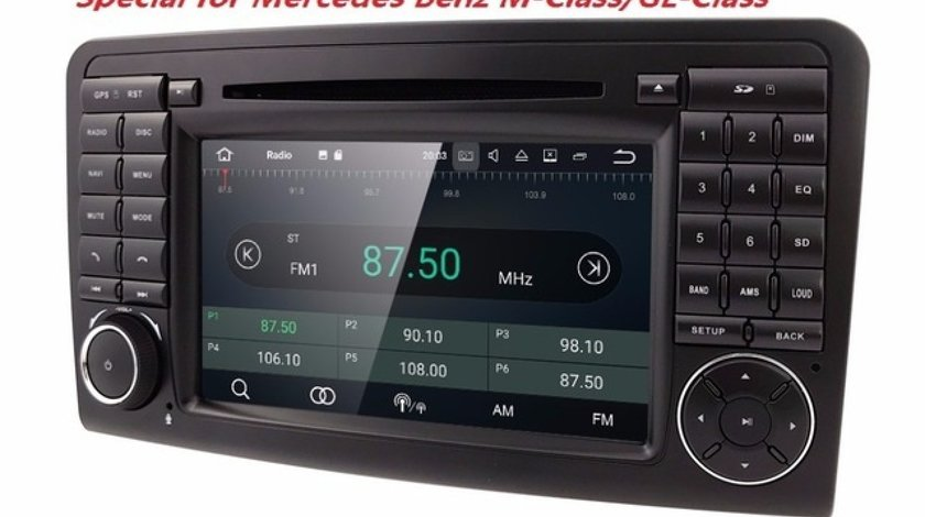 Navigatie Android Mercedes Benz Ml W164 Class GL X164 QUAD CORE INTERNET MIRRORLINK NAVD-A219