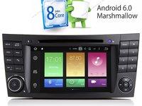 Navigatie Android Mercedes Clasa E W211 CLS W219 QUAD CORE INTERNET MIRRORLINK NAVD-P090