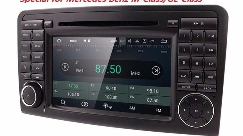 Navigatie Android Mercedes Ml W164 Class QUAD CORE INTERNET MIRRORLINK NAVD-A219
