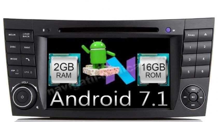 Navigatie Android Mercedes W211 Clasa E CLS W219 QUAD CORE INTERNET NAVD-A090 Android 7.1