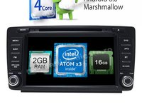 "Navigatie Android Skoda Octavia 2 Facelift 2009 2014 ECRAN 8"" NAVD-i9725 Nu Necesita Rama"