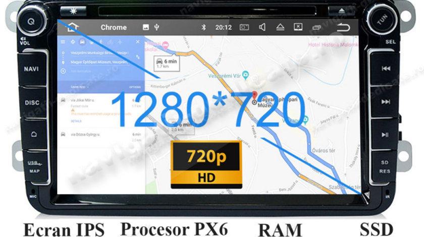 Navigatie Android SKODA OCTAVIA 2 Superb 2 Rapid Fabia Roomster Yeti Carkit NAVD-P9240