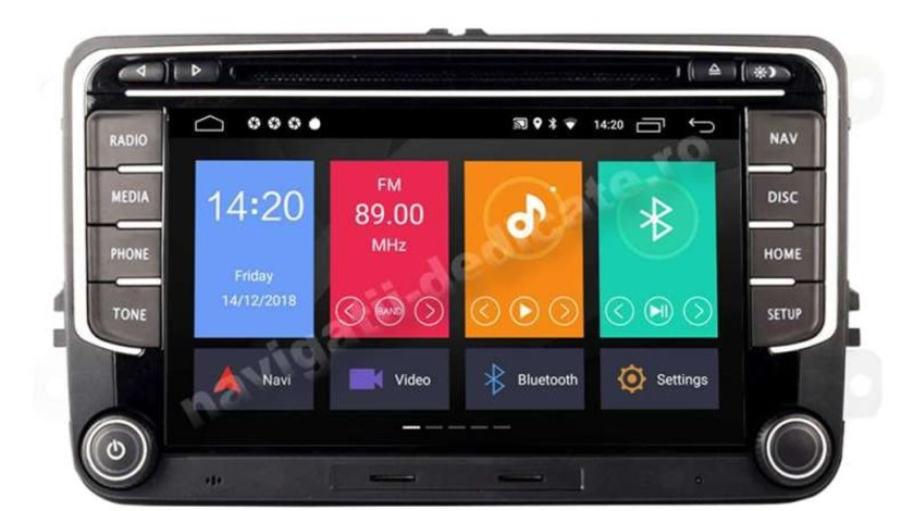 Navigatie Android SKODA OCTAVIA 2 Superb 2 Rapid Fabia Roomster Yeti Carkit NAVD-MT3700